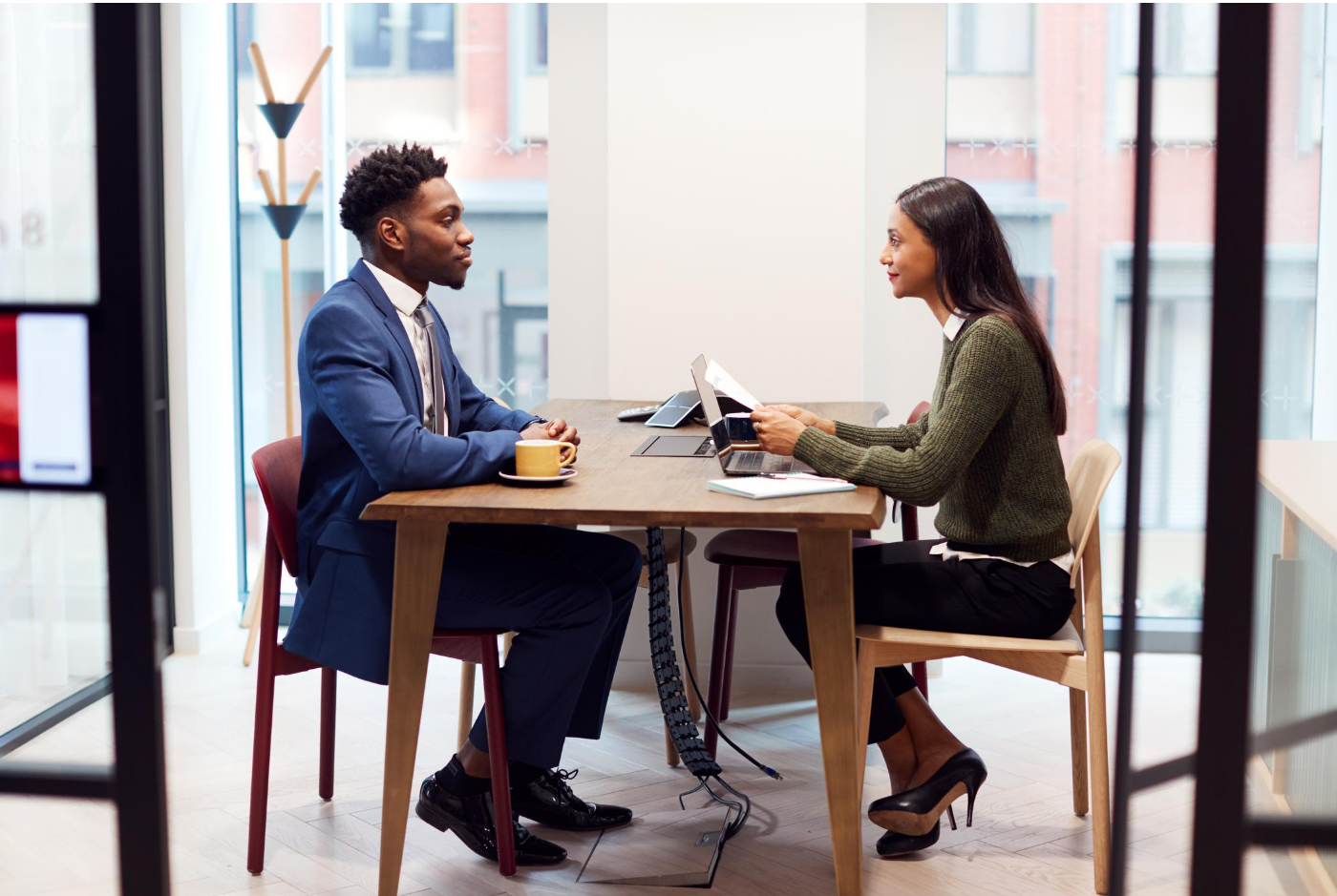 A person is interviewing for an HR consulting and recruiter position in Lansing Michigan.