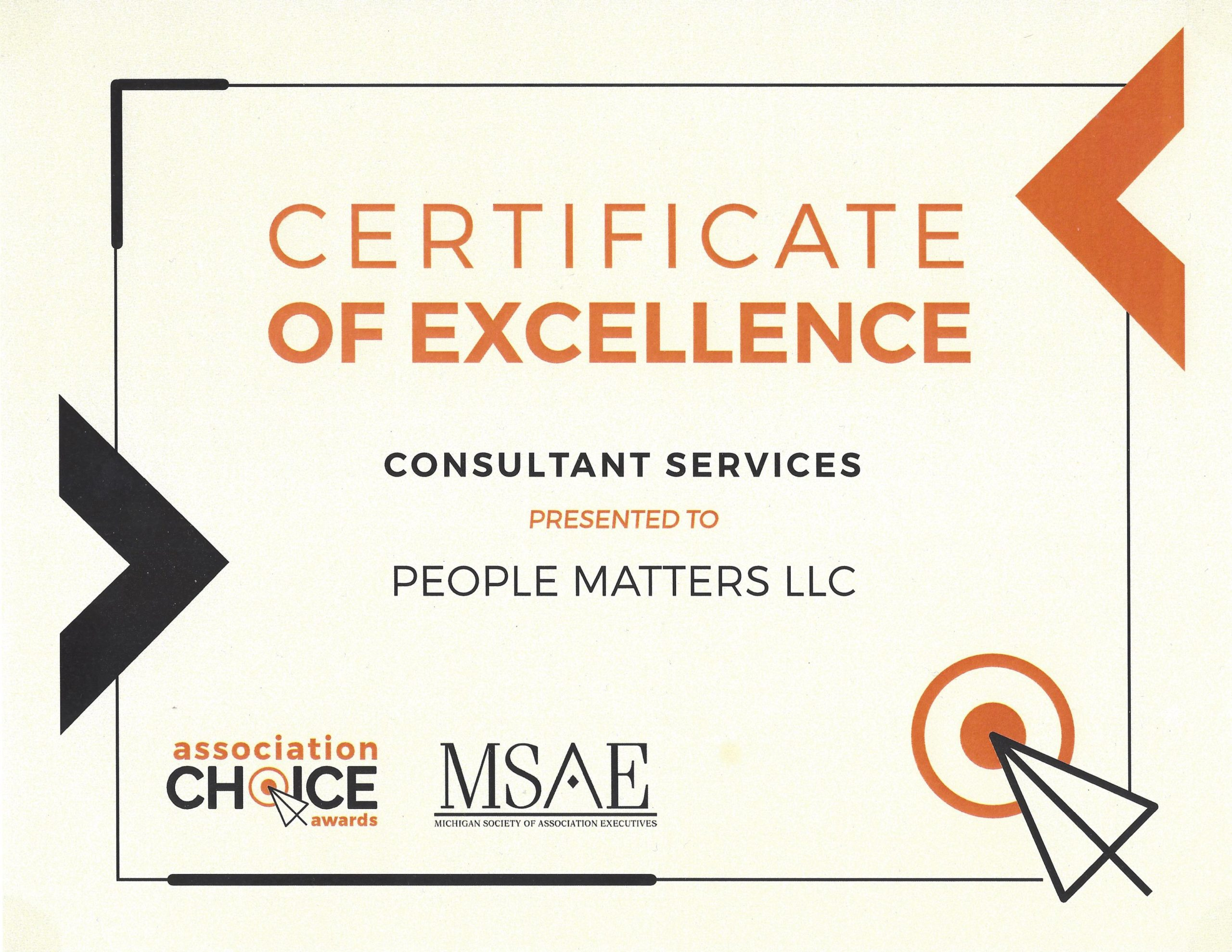 MSAE Association Choice Award